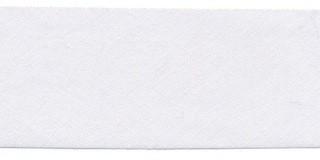 Wit #8/A ongevouwen biaisband 30 mm (ca. 10 meter)