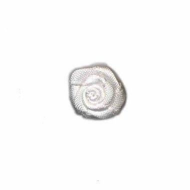 Roosje satijn wit 15 mm (ca. 25 stuks)