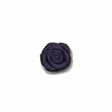 Roosje satijn donker blauw 15 mm (ca. 25 stuks)
