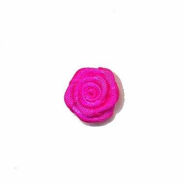 Roosje satijn knal roze 15 mm (ca. 25 stuks)