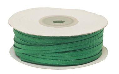 Donker groen dubbelzijdig satijnband 4 mm (ca. 90 m)