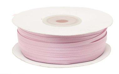 Licht roze dubbelzijdig satijnband 4 mm (ca. 90 m)