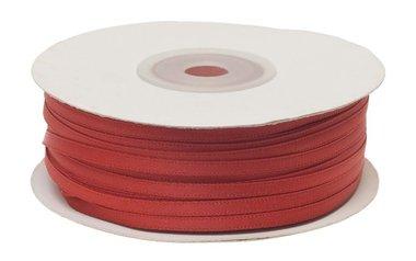 Rood dubbelzijdig satijnband 4 mm (ca. 90 m)