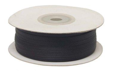 Zwart dubbelzijdig satijnband 4 mm (ca. 90 m)