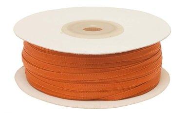 Oranje dubbelzijdig satijnband 4 mm (ca. 90 m)