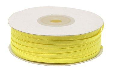 Geel dubbelzijdig satijnband 4 mm (ca. 90 m)