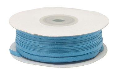 Aqua dubbelzijdig satijnband 4 mm (ca. 90 m)