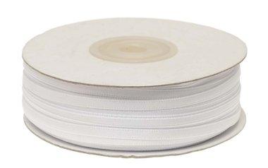 Wit dubbelzijdig satijnband 4 mm (ca. 90 m)