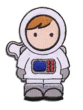 Opstrijkbare applicatie astronaut (5 stuks)