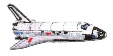 Opstrijkbare applicatie space shuttle (5 stuks)