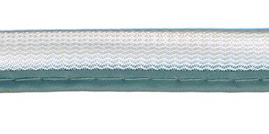 Reflecterende piping-/paspelband grijs - 2 mm koord (ca. 25 meter)