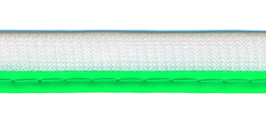 Reflecterende piping-/paspelband NEON groen - 2 mm koord (ca. 25 meter)