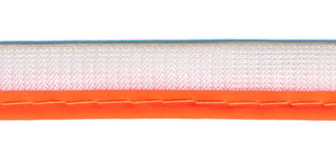 Reflecterende piping-/paspelband NEON oranje - 2 mm koord (ca. 25 meter)