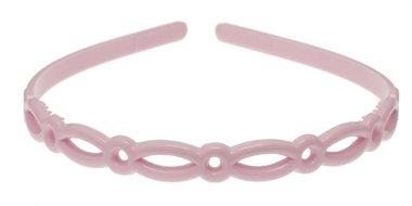 Diadeem 'onbreekbaar' licht roze (6 stuks)