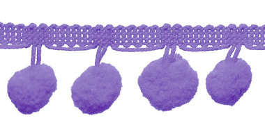 Pompom band lila 20 mm (ca. 16 meter)