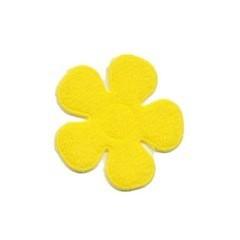 Applicatie bloem NEON geel vilt middel 30 mm (ca. 100 stuks)