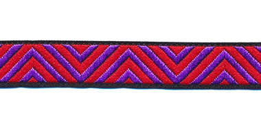Sierband zigzag paars-rood 12 mm (ca. 22 m)