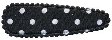 Haarkniphoesje zwart met witte stip 5 cm (ca. 100 stuks)