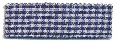 Haarkniphoesje donker blauw-wit geruit 5 cm rechthoekig (ca. 100 stuks)