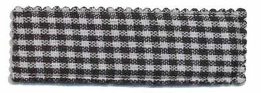 Haarkniphoesje zwart-wit geruit 5 cm rechthoekig (ca. 100 stuks)