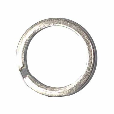 Sleutelring plat zilverkleurig ca. 30 mm (10 stuks)