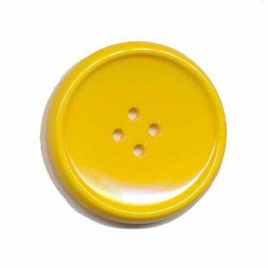 Knoop schotel geel 35 mm (ca. 25 stuks)