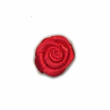 Roosje satijn rood 20 mm (ca. 25 stuks)