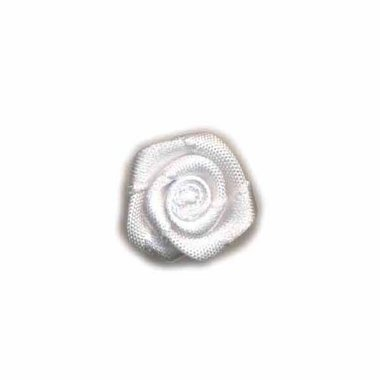 Roosje satijn wit 20 mm (ca. 25 stuks)