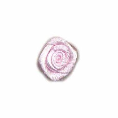 Roosje satijn licht roze 20 mm (ca. 25 stuks)