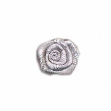 Roosje satijn zilvergrijs 20 mm (ca. 25 stuks)