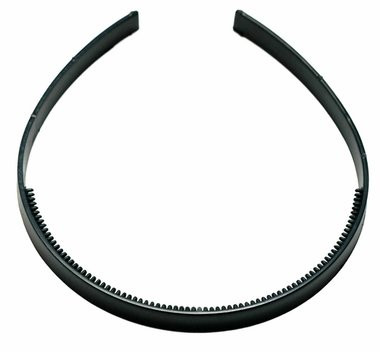 Diadeem om zelf te bekleden 7 mm zwart (6 stuks)