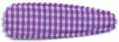 Haarkniphoesje geruit wit-paars 5 cm (ca. 100 stuks)