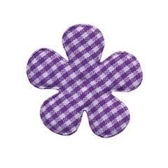 Applicatie geruite bloem paars-wit middel 35 mm (ca. 25 stuks)