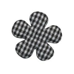 Applicatie geruite bloem zwart-wit middel 35 mm (ca. 25 stuks)