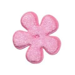 Applicatie bloem licht roze fluweel middel 35 mm (ca. 100 stuks)