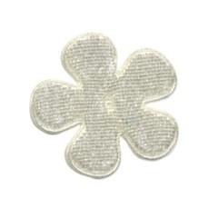 Applicatie bloem creme fluweel middel 35 mm (ca. 25 stuks)