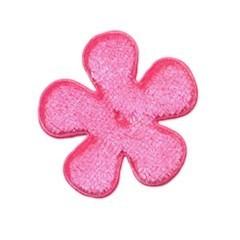 Applicatie bloem roze fluweel middel 35 mm (ca. 25 stuks)