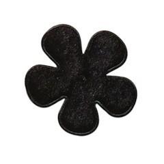 Applicatie bloem zwart fluweel middel 35 mm (ca. 25 stuks)