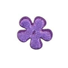 Applicatie bloem paars fluweel klein 25 mm (ca. 25 stuks)