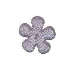 Applicatie bloem grijs fluweel klein 25 mm (ca. 25 stuks)