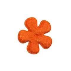 Applicatie bloem oranje fluweel klein 25 mm (ca. 25 stuks)