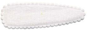 Haarkniphoesje wit vilt 5 cm (ca. 100 stuks)