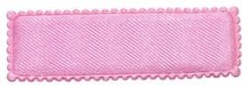 Haarkniphoesje roze satijn 5 cm rechthoekig (ca. 100 stuks)