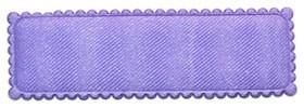 Haarkniphoesje lila satijn 5 cm rechthoekig (ca. 100 stuks)