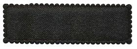 Haarkniphoesje zwart satijn 5 cm rechthoekig (ca. 100 stuks)