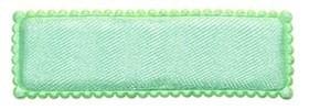 Haarkniphoesje groen satijn 5 cm rechthoekig (ca. 100 stuks)
