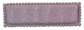 Haarkniphoesje grijs satijn 5 cm rechthoekig (ca. 100 stuks)