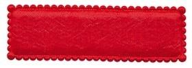 Haarkniphoesje rood satijn 5 cm rechthoekig (ca. 100 stuks)