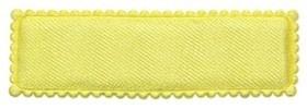 Haarkniphoesje geel satijn 5 cm rechthoekig (ca. 100 stuks)