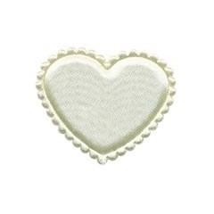 Applicatie hart creme satijn effen middel 35 mm (ca. 100 stuks)